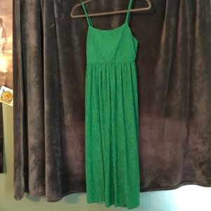 Green Flowy Jumpsuit from Urban outfitters